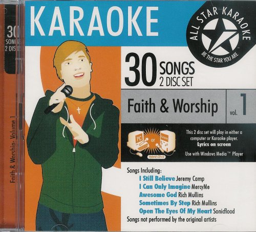 ASK-68 Christian Karaoke: Faith and Worship, Vol. 1; Jeremy Camp, Mercy Me and Rich Mullins by All Star Karaoke