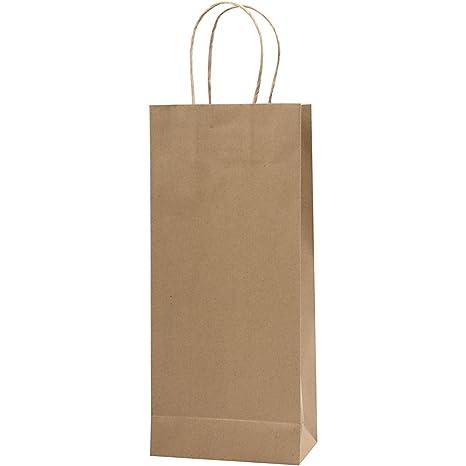 Bolsa de papel reciclado, A. 36 cm, A: 16x8 cm, 10ud: Amazon ...