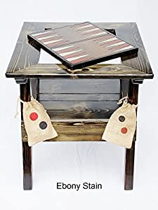 Backgammon Game with Checkers / Chess Reversible Game Board Wood Table, Indoor / Outdoor