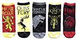 Game of Thrones Houses Juniors/Womens 5 Pack Ankle Socks Size 4-10