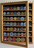 Antique Coin / Casino Poker Chip Display Case Cabinet