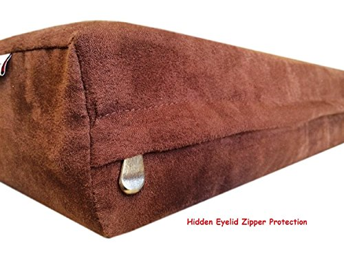 47''x29''x4'' Chocolate Brown MicroSuede Fabric 100% Washable Resistant Anti Slip Luxury Comfort Replacement Dog Bed Zippered Duvet Gusset Case - Cover Only (Dog Mattress Replacement Cover)