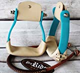 Western Horse Saddle Stirrups Barrel Racing Alumin...