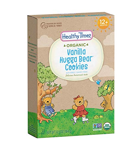 - Healthy Times Organic Hugga Bear Cookies for Kids, Vanilla | For Toddlers, 12 Months and Older | 6.5 Oz. Box, 1 Count