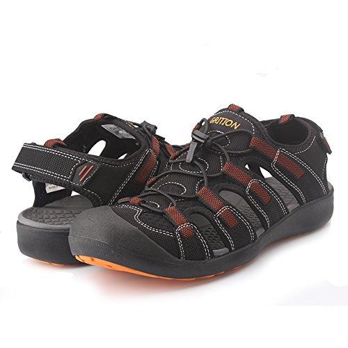 Pictures of GRITION Men's Outdoor Sandals Protective Toecap 2