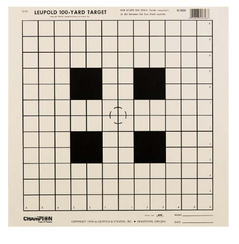 Champion NRA Sight-In GA-53 100-yard Rifle Scope Tagboard Target (Pack of 12)