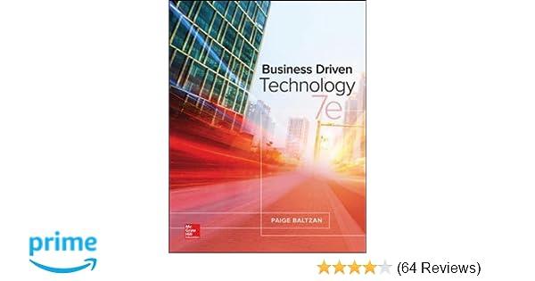 Business driven technology paige baltzan instructor 9781259567322 business driven technology paige baltzan instructor 9781259567322 amazon books fandeluxe Gallery