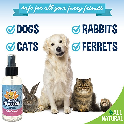 NEW-Natural-Baby-Powder-Pet-Cologne-Cat-Dog-Deodorant-and-Scented-Perfume-Body-Spray-Clean-and-Fresh-Scent-Natural-Deodorizing-Conditioning-Qualities-Made-in-USA-1-Bottle-4oz-120ml
