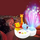 per Zoo Star Projector Nightlight with Music Luminous Projection Comfort Toys for Kids Baby Toddlers