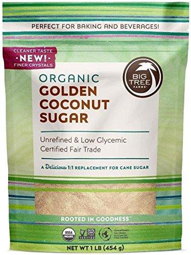 Big Tree Farms Organic Coconut Sugar, Non-GMO, Gluten Free, Vegan, Fair Trade, Natural Sweetener, Golden, 1 Pound Big Tree Farms Coconut