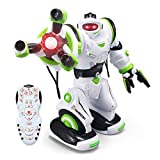 YARMOSHIRemote Control Smart Robot Toy - Big Calvin, Flexible Moving Body, Whirls, Dances. Fun Gift for Girls and Boys Age 5+.