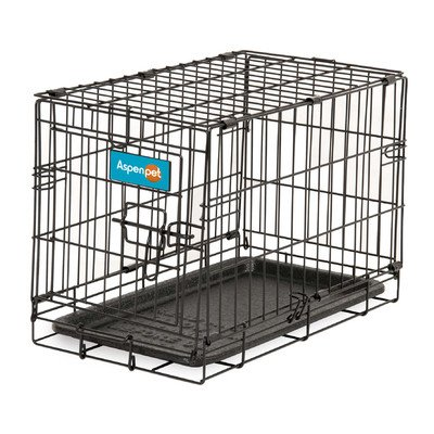 Aspen Pet Wire Home Training Dog Kennel, 19W x 11D x 13H