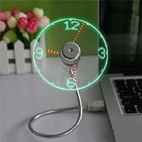 grandey Durable visualización USB Gadget Mini luz de LED flexible USB Ventilador Reloj de Tiempo computadora Reloj Cool Gadget Tiempo Ajustable