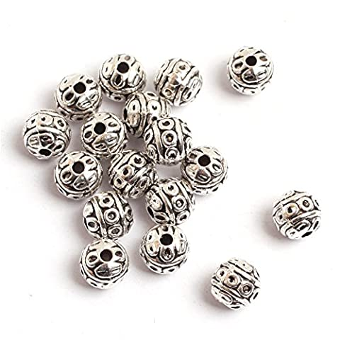 GEM-inside Ball Flower Bali Style Metal Antique Tibetan Silver Findings Jewelry Making Spacer Beads Charms Jewelry Findings Jewelry Making DIY - Beads And Findings