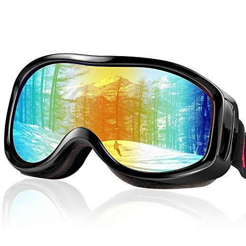 FYLINA 스키 고글 스노우 고글 스노보드 고글 UV400 자외선 컷 안경 대응 헬멧 대응 방진 방풍 방설방 반사 경량내 충격 등산 스키 오토바이 전면 적용 남녀 겸용 보호 봉투 첨부