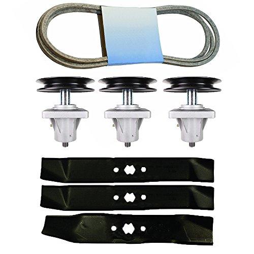 8TEN Deck Spindles Blade Belt Kit Combo Set Cub Cadet i1046 LT1045 Before 2007 Mower 918-0625B 942-0611A 942-0612A