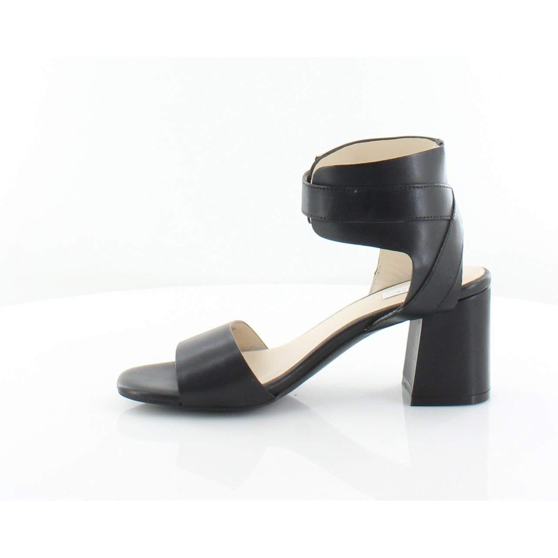 Black Leather Cole Haan Women's Avani Block-Heel Sandals Nude