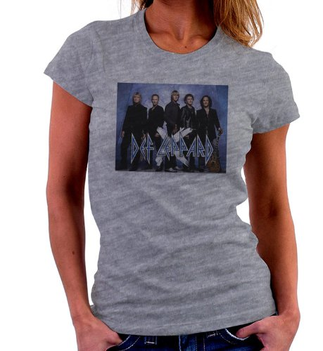 DEF LEPPARD 1 Womens Short Sleeve T-Shirt - Gry L