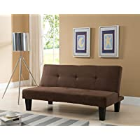 Kings Brand Chocolate Microfiber With Adjustable Back Klik Klak Sofa Futon Bed Sleeper