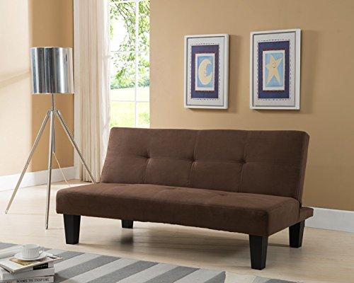 Kings Brand Chocolate Microfiber With Adjustable Back Klik Klak Sofa Futon Bed Sleeper