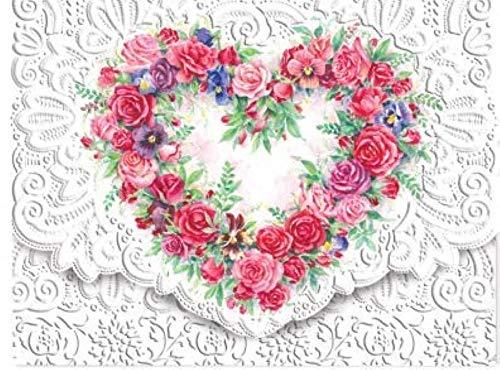 (Carol Wilson Fine Arts Inc. Rose Heart Portfolio Embossed Die Cut Notecards (ncp2149))