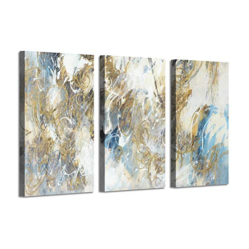 Abstract Artwork Picture Canvas Print: Exchange Gold Foil Art Set for Wall Decor ()