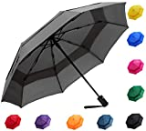 Fidus Compact Windproof Vented Automatic Travel Umbrella with Double Canopy