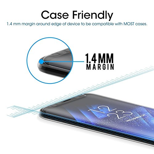 Samsung Galaxy S8 Tempered Glass Screen Protector, Servors [Touch Agile 3D Glass][Anti-scratch][Easy to Install] [9H Hardness]for Samsung Galaxy S8[4-Pack]