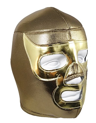 RAMSES Adult Lucha Libre Wrestling Mask (pro-fit) Costume Wear - Gold ()