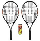 2 x Wilson Matchpoint XL Tennis Rackets + 3 Tennis Balls