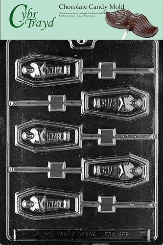 Cybrtrayd Life of the Party H045 Halloween Casket Lolly Chocolate Candy Mold in Sealed Protective Poly Bag Imprinted with Copyrighted Cybrtrayd Molding Instructions -