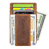 Kyпить Garigolden Money Clip, Leather RFID Blocking Wallet for Men(Vintage Brown) на Amazon.com