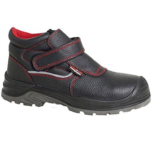 Paredes sm5062NE39Gamma–Zapatos de seguridad S3talla 39NEGRO/ROJO