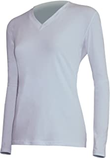 product image for Polarmax Nice! Long Sleeve V-Neck - Women's White Small