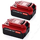 Powerextra 2 Pack 5.0Ah 20 MAX Lithium Replacement Battery Compatible with Porter Cable PCC685L PCC680L