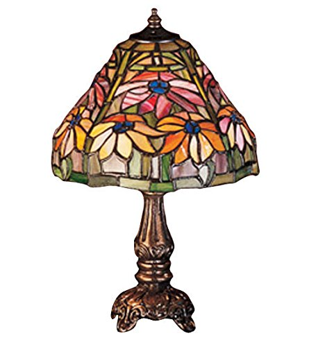 Tiffany Style Stained Glass Poinsettia Mini Table -