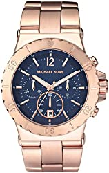 Michael Kors MK5410 Women's Chronograph Dylan Rose Gold-Tone Stainless Steel Bracelet Watch
