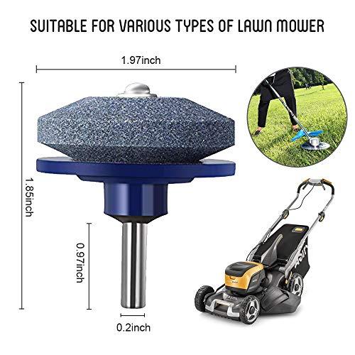 NEWWANDE Lawn Mower Blade Sharpener Lawnmower Blade Sharpener Lawn Mower Sharpener for Any Power Drill Hand Drill (4 pcs Blue)