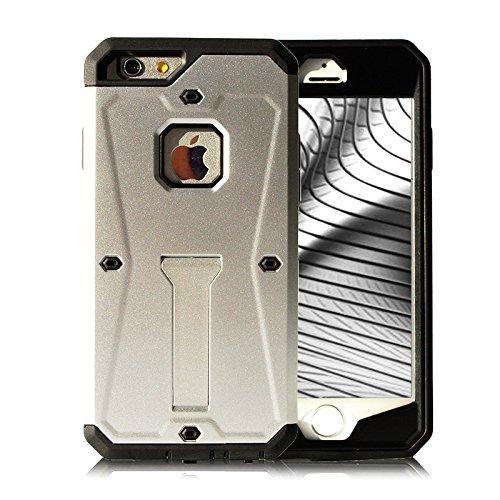 Schutz Handy Hülle für iPhone 5 5s SE Hybrid Schwarz Bildschirm Full Cover Armor Hart Hybrid Schale Tasche Metallisch 360 Rundumschutz Case