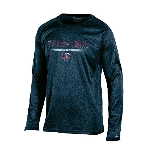 NCAA Texas A&M Aggies Men's Champion Team Core Long sleeve Tee, Charcoal Heather, (Aggies Long Sleeve)