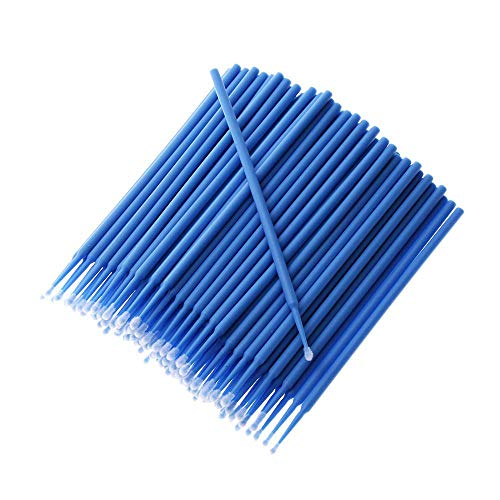 Paint Brushes Auto Cleaning Automobile Washer Paint Touch-up Car Applicator Stick Disposable Dentistry Pen Colorful Maintenance Tools -100pcs(blue)