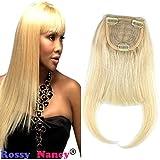 Rossy&NancyBrazilian Human Hair Clip-in Hair Bang Full Fringe Short Straight Hair Extension for women 6-8inch