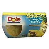 #6: Dole Fruit Bowls, Pineapple Tidbits in Juice, 4 Cups