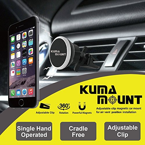 Universal Air Vent Magnetic Car Mount Holder for iPhone Xs max Xr X 8 7 Samsung Galaxy S10 S10 Car mount S10 light and more with 2 metal plates KUMA MOUNT 4351582237