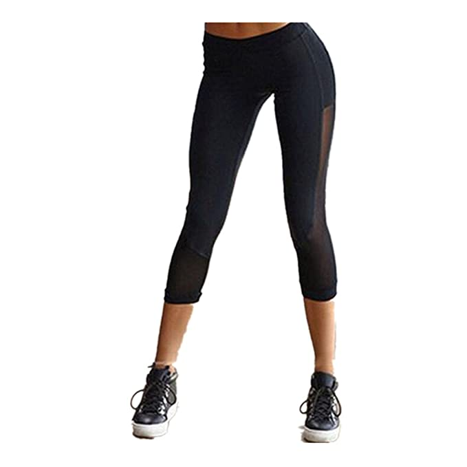 22853892e396 beautyjourney Donna Yoga Sport Pants Pantaloni Sportivi da Pantaloni da yoga  Mesh Push Up donna Yoga