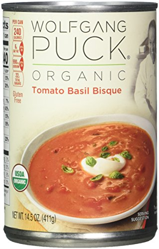 Wolfgang Puck Organic Tomato Basil Bisque, 14.5 Ounce (Pack of 12) (Packaging May (Tomato Bisque Ingredients)