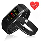 Fitness Tracker - Newest K-berho Colorful Screen Heart Rate Blood Pressure Blood oxygen Monitor Waterproof Activity Tracker and Workout Tracker Bluetooth Smart Bracelet Watch for IOS & Android