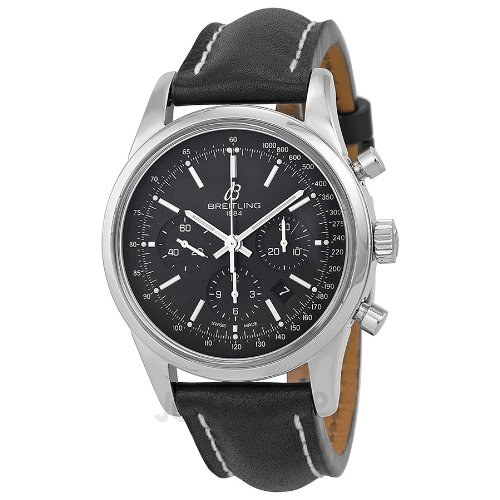 Breitling Transocean Chronograph Automatic Black Dial Mens Watch AB015212/BA99