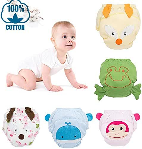 Baby Toddler 7 Pack Toilet Training Pants Nappy Underwear Cloth Diaper