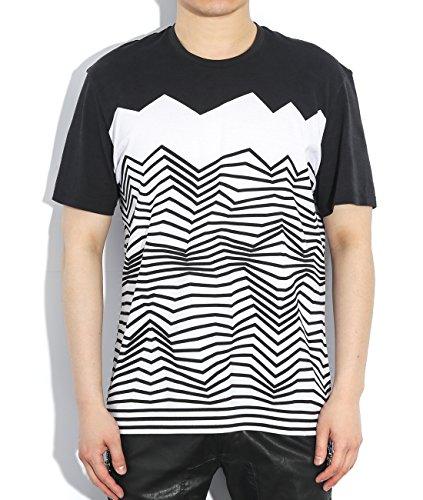 wiberlux-neil-barrett-mens-uneven-stripe-print-t-shirt-l-black-white